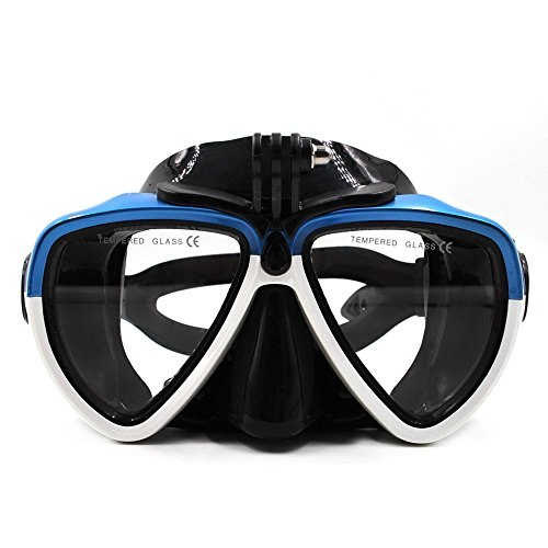 - TELESIN Diving Glass Mount Diving Mask Scuba Snorkel Swimming Goggles for GoPro Hero 2018 Hero 6/5/4/3 Session SJCAM XIAOYI