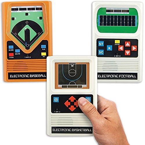 Schylling Associates Inc (Set) Retro Electronic Baseball, Basketball and Football Hand Held Games