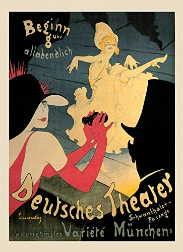 German Vintage Poster - The Deutsches Theater in Munich Germany German Show Dance Vintage Poster Repro 16