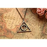 Harry Potter Necklace,retro Bronze Deathly Hallows Pendant Necklace,so Cute and Lovely Necklace,fashion Jewelry,friend Gift