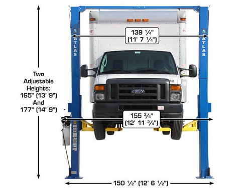 Atlas Apex 12 ALI Certified Overhead 12,000 lb. Capacity Adjustable Height 2 Post Vehicle Lift by Atlas (Image #1)