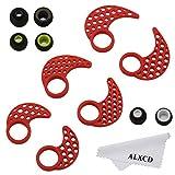 ALXCD Ear Gel Fin Ear Tip for Jaybird X2, SML 3 Pair Anti-Slip Sport Durable Soft Silicone Replacement Ear Hook & Ear Gel Tip, Fit for Jaybird Bluebud Wireless Headphone X X2 [Red-SML](3 Pair)