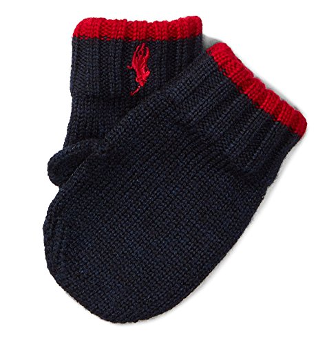 - RALPH LAUREN Baby Boy Wool Glove Mitten 9M/24M Hunter Navy