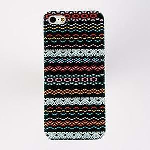 Punk Irregular Shape Stripe Pattern TPU Soft Case for iPhone 5/5S , Multicolor