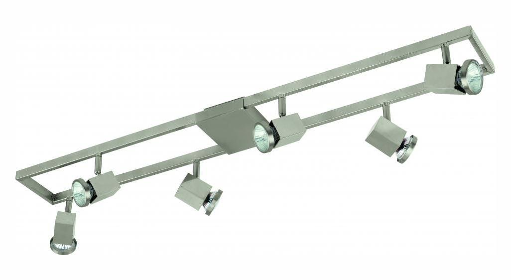 Matte Nickel Zeraco 6 Light 37in. Long Track Light with Adjustable Heads