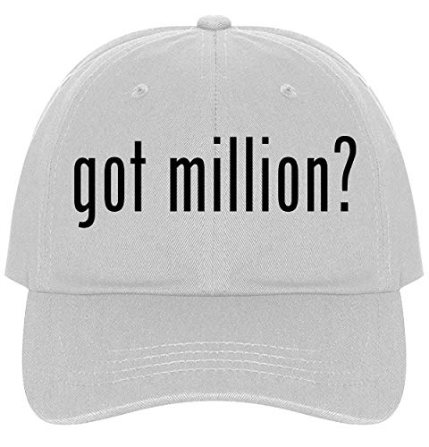 The Town Butler got Million? - A Nice Comfortable Adjustable Dad Hat Cap, White