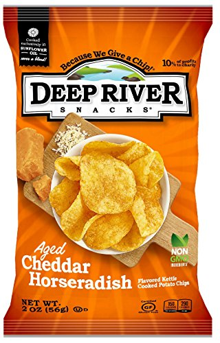 (Deep River Snacks Aged Cheddar Horseradish Kettle Cooked Potato Chips, 2-Ounce (Pack of 24))