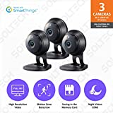 Samsung Wisenet SNH-C6417BNB SmartCam HD Plus 1080p Full HD Wi-Fi Camera Black 3 Pack