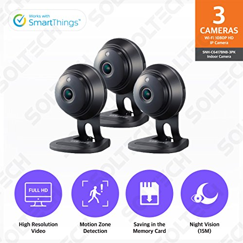 Samsung Wisenet SNH-C6417BNB SmartCam HD Plus 1080p Full HD Wi-Fi Camera Black...