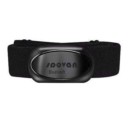 Spovan Sports Monitor de frecuencia cardíaca Cinturón Ant ...