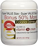 BONUS SIZE Vitamin E Cream 42,000 I.U. - 50% MORE FREE 6 oz.
