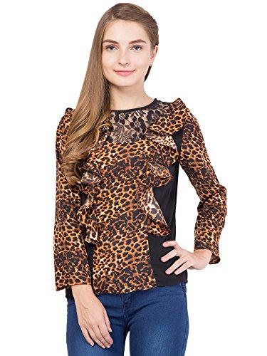 ALVENDA Full Sleeve Animal Print Women #39;s Multicolor Top