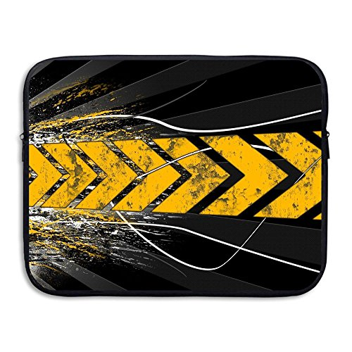 Homlife Laptop Sleeve Bag Yellow Tire Printing 13/15 inch Briefcase Sleeve Bags Cover Notebook Case Waterproof Portable Messenger ()