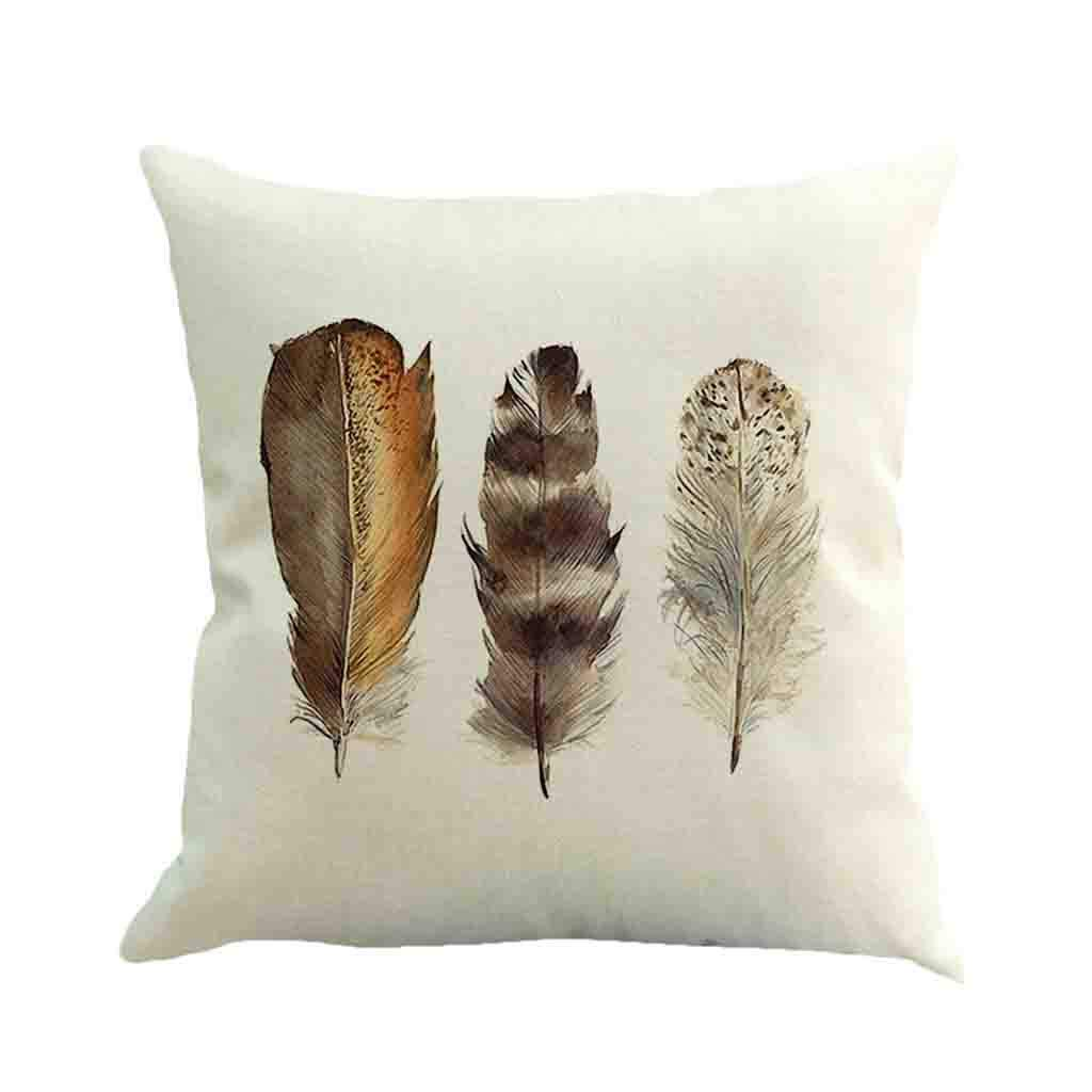 Weiliru Spring Decoration Throw Pillow Case Cushion Cover Comfortable Pillow Cover Solid Color Soft Decorative Cover
