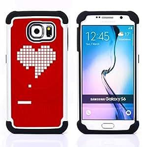 For Samsung Galaxy S6 G9200 - pc game gamer girlfriend love valentines Dual Layer caso de Shell HUELGA Impacto pata de cabra con im??genes gr??ficas Steam - Funny Shop -