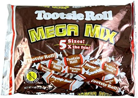 e1c3c829 Tootsie Roll Mega Mix 4 LB Bag (5 Sizes): Amazon.com: Grocery & Gourmet Food