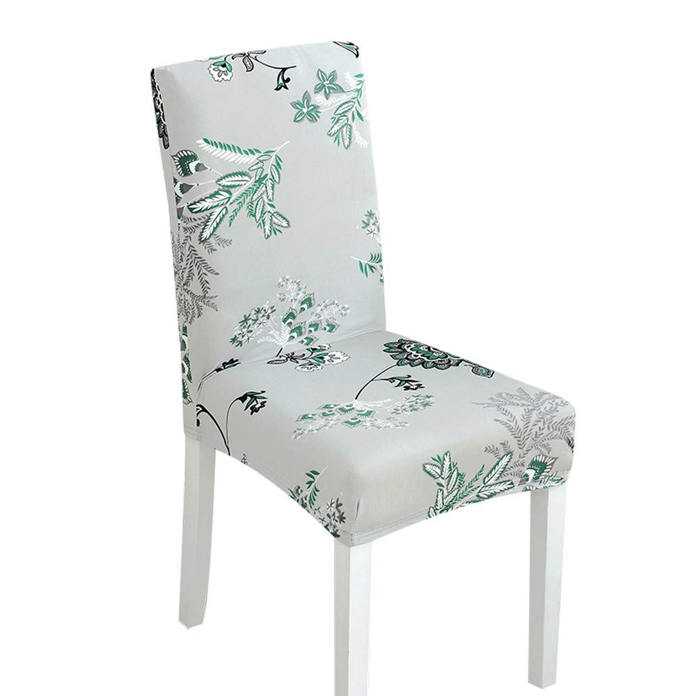 Fheaven (TM) Seat Cover - Stretch Spandex Dining Room Chair Covers with  Printed Pattern ef63db90c