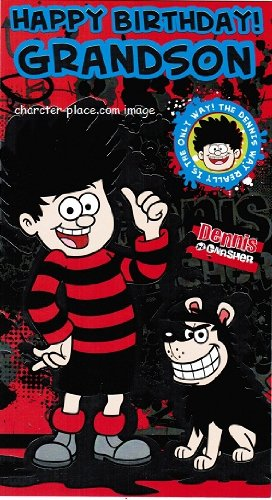 Dennis The Menace Birthday Card Grandson Amazon Toys Games