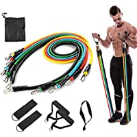 Resistance band 11 Pcs Fitness Resistance Band Set with Stackable Exercise Bands Legs Ankle Straps Multi-function…