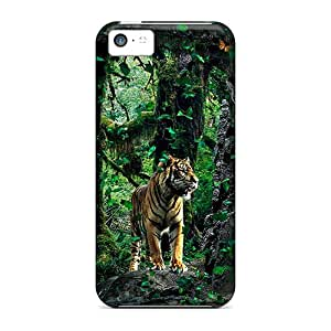 Premium NySVbDo1859CUhRW Case With Scratch-resistant/ Brave Tigre Apparition Case Cover For Iphone 5c