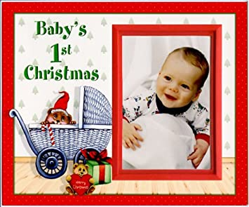 Amazoncom Babys First Christmas Picture Frame Gift Childrens