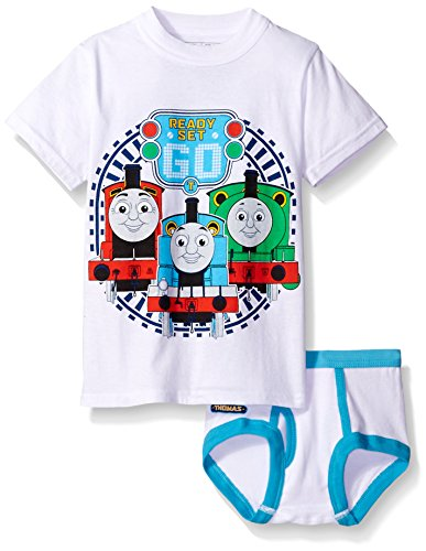 Thomas & Friends  the Train Toddler Boys_ Thomas Underwear and T-Shirt Set  Assorted  -
