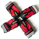 Kromi Dog Boots, Waterproof Paw Protector Pet Shoes for Small Medium Large Dogs 4pcs (Red, Size 6)
