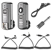 Neewer FC-16 Multi-Channel 2.4GHz 3-IN-1 Wireless Flash/Studio Flash Trigger with Remote Shutter for Nikon D7100 D7000 D5100 D5000 D3200 D3100 D600 D90 D800E D800 D700 D300S D300 D200 D4 D3S D3X D2Xs