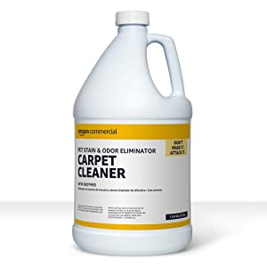 AmazonCommercial Pet Stain & Odor Eliminator Carpet Cleaner with Enzymes, 1-Gallon, 1-Pack