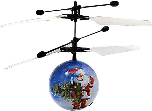 STOBOK Hélicoptère Boule de Noël Père Noël Induction Mini