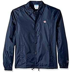 Champion LIFE Men's Coaches Jacket West Breaker Edition, Navy, X Large