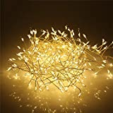 Areskey Christmas Lights Outdoor Decor,104 LED Mini Starry Curtain Light,Umbrella Light,Waterproof Battery Operated Watering Can String Lights Decorative Garden Party Flower,8 Mode