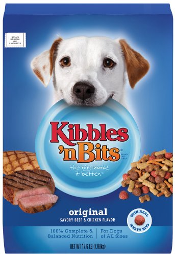 Kibbles 'n Bits Original Savory Beef & Chicken Flavors Dry Dog Food, 17.6-Pound