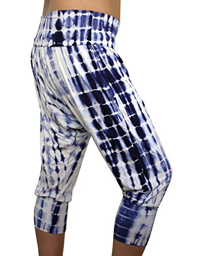 463c68c97b Karmala Bamboo Baggy Indigo Dye Capri Pants, Soft and Eco-Friendly, Medium