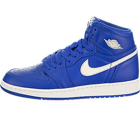 Jordan Nike Kids Air 1 Retro High OG GS Hyper Royal/Sail Hyper Royal Basketball Shoe 6 Kids US by Jordan
