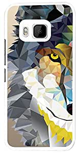 283 - geometric Aztec Wolf Tiger Face Design For htc One M9 Fashion Trend CASE Back COVER Plastic&Thin Metal