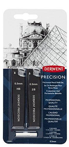 Derwent Mechanical Pencils 0.5 Refill Set, Precision, HB (Pencil Board Set)