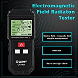 Electromagnetic Field Radiation Detector/EMF Meter, LIUMY Handheld Mini EMF Detector Digital LCD Radiation Meter/Dosimeter Tester/Counter/Sound and Light Alarm (Batteries Included)