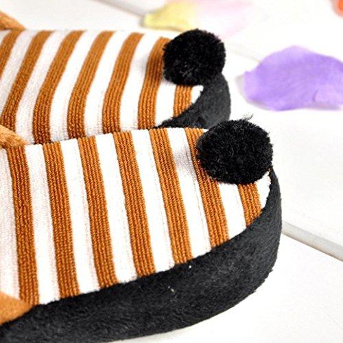 Home Stripe Lovely Chaussons Panda Home Cartoon Café étage pantoufles Soft Fulltime® qFBRrqxH