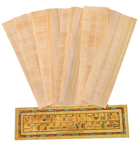 10 Egyptian Papyrus paper blank bookmarks for Art