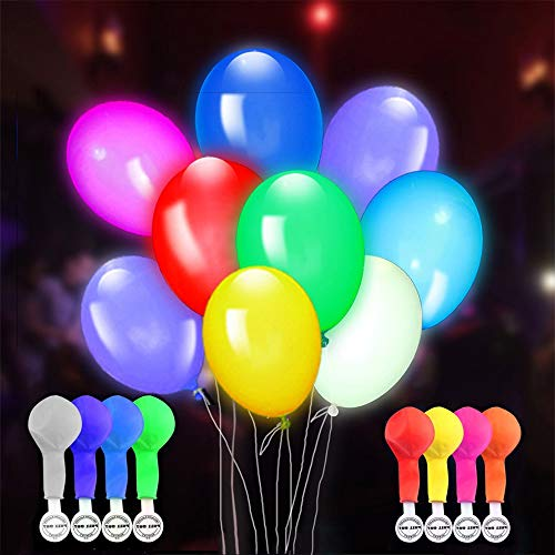 Light up Idea for Party Christmas Birthday Wedding, Tisy Clear Led Light up Birthday Balloons Stocking Stuffer Stocking Fillers TSUSLB01 ()