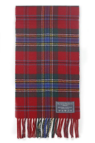 The Tartan Blanket Co. Scottish Lambswool Scarf Maclean of Duart Tartan - Scottish Lambswool