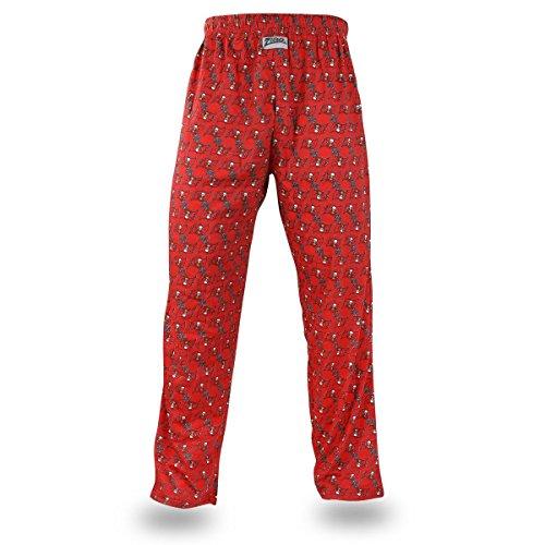 Zubaz NFL Tampa Bay Buccaneers Men's Team Logo Print Comfy Jersey Pants, X-Large, Red