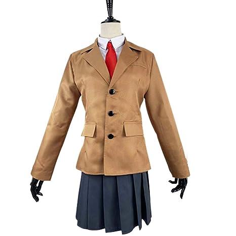 YKJ Anime Campus Juvenil Carácter Traje marrón Tops y Faldas ...