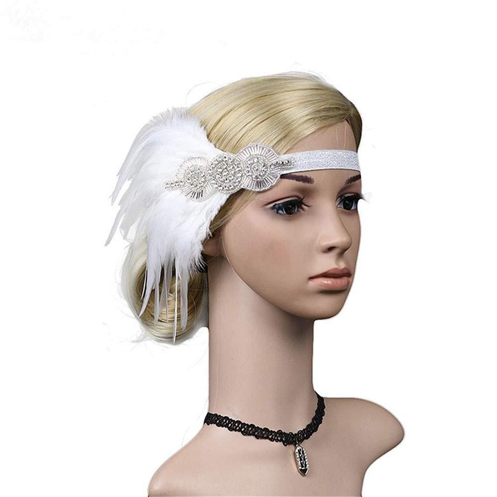 Hüte & Kopfbedeckungen Farbe : A007 Verkleiden & Kostüme WEATLY 1920er Jahre Schwarze Feder Gold Glitter Pailletten Kopf Indianer nationalen Haarschmuck