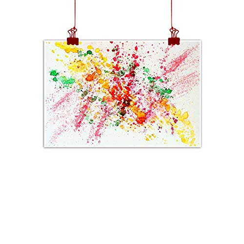 Light luxury American oil painting Abstract watercolor bright colorful background painting with spray spots splashes Hand drawn on paper grain texture For modern pattern wallpaper banner design Light