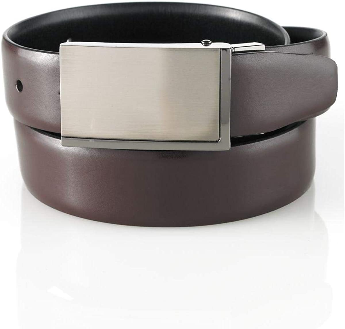 ALFANI Black//Brown Faux Leather Reversible Mens Belt 42