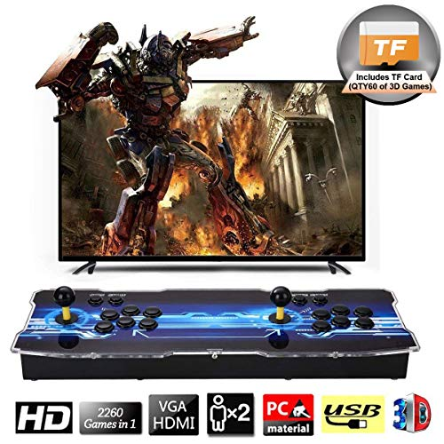 (SeeKool 3D Pandora X Arcade Game Console, 1920x1080 Full HD 4 Players Max Arcade Machine with 2260 Games, Support Extended TF Card& USB Disk to Enjoy More Games, for PC / Laptop / TV / PS4 (KOF))
