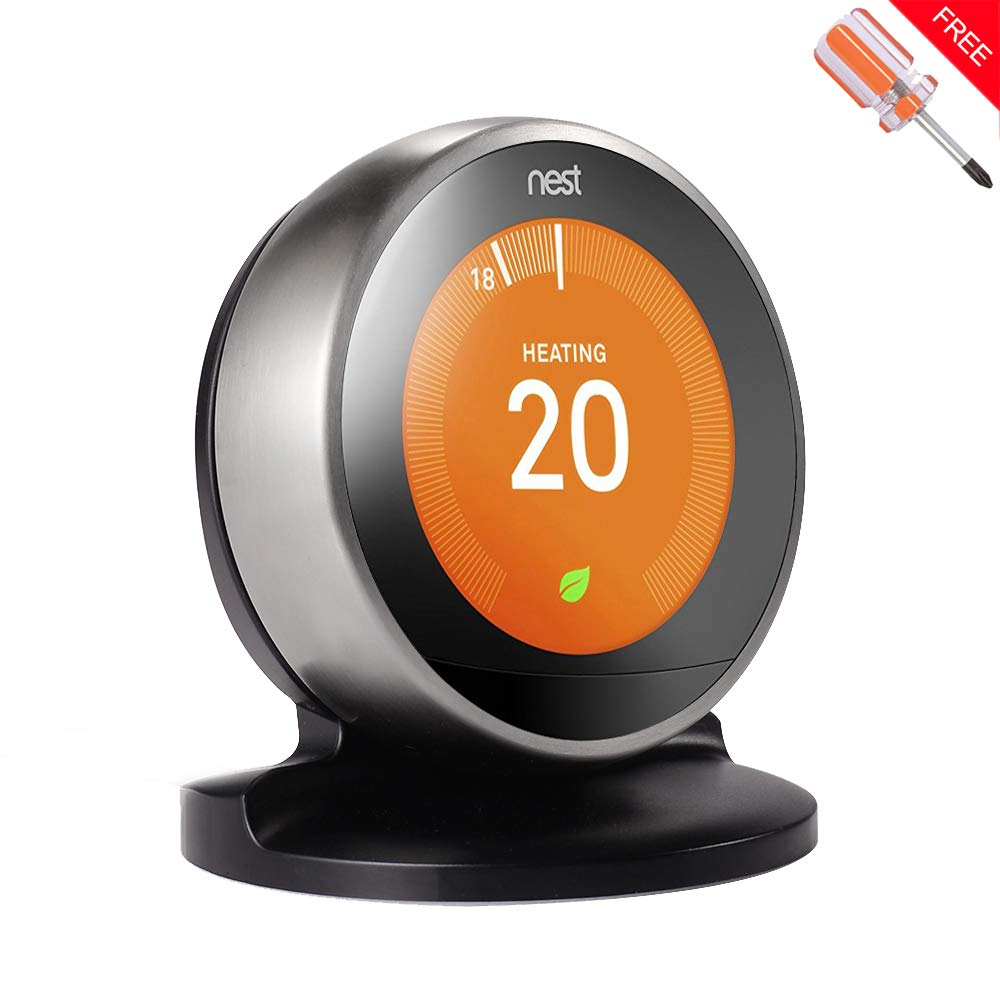 Stand Holder/Bracket for Nest Learning Thermostat, 3rd/2nd Generation (schwarz) LUXACURY