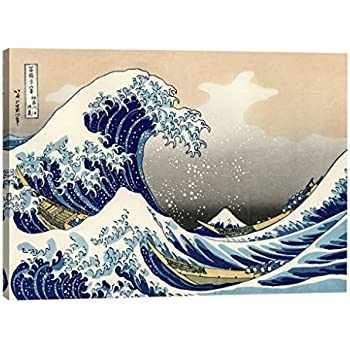Eliteart-The Great Wave Off Kanagawa by Katsushika Hokusai Reproduction Giclee Art Canvas Prints